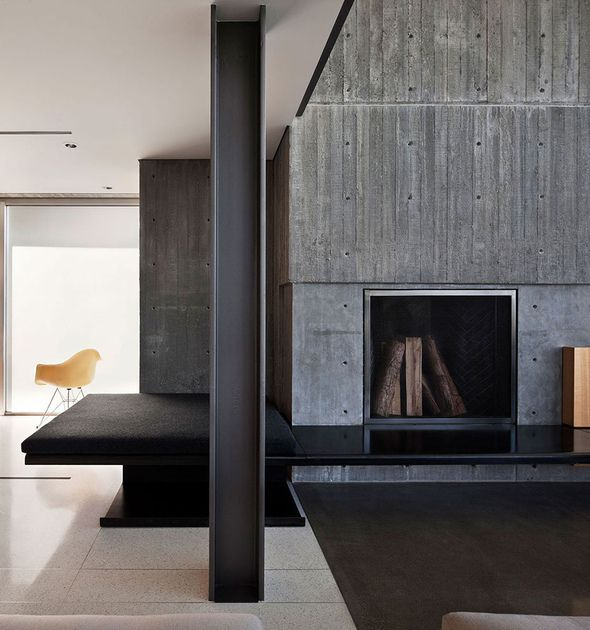 concrete interior wall villas pinterest. Black Bedroom Furniture Sets. Home Design Ideas