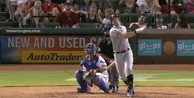 Evan Longoria had a two home run and three RBI night in the Rays win over the Rangers on Wednesday. Final score 8-4