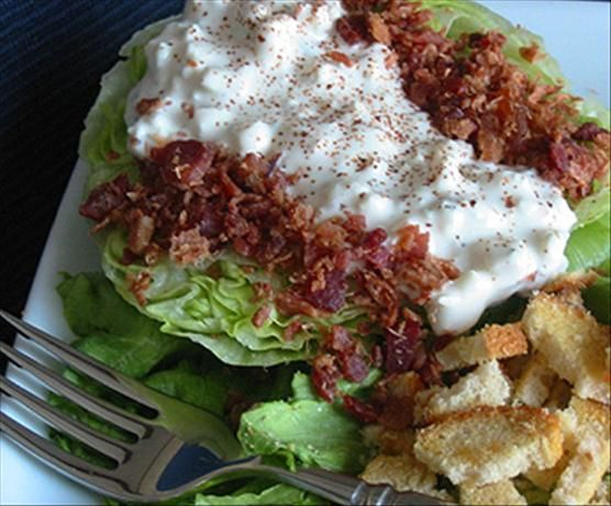 cheese dressing blt salad with avocados and a blue cheese dressing ...