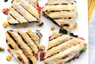 Black bean and goat cheese quesadilla. Muy delicioso! This was soon ...