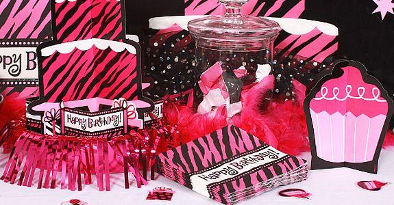 neon zebra birthday party ideas  Pink Zebra Party Supplies, FREE ...