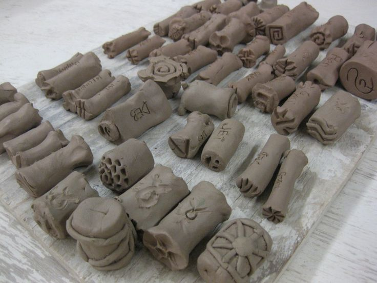 Handmade texture stamps