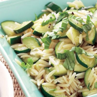 Orzo and Zucchini Salad | Books Worth Reading | Pinterest