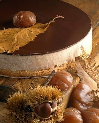 Chestnut cheesecake | Delicious | Pinterest