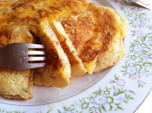 cheddar bacon pancakes | Camping - Don't laugh people! | Pinterest