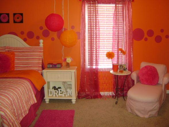 orange and pink bedrooms orange and pink dreams girly girls room