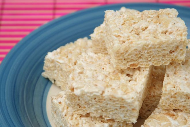 salted brown butter rice crispy treats | Cookies & Bars | Pinterest