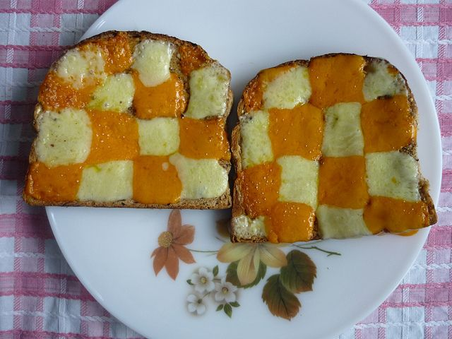 cheese on toast! I remember my Mum doing this for me