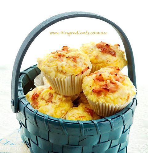 Ham & Cheese Muffins 4 Ingredients p130 - Menu Planning - Lovely ...