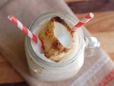 Toasted Marshmallow Milkshake - I wish I could get some vegetarian ...