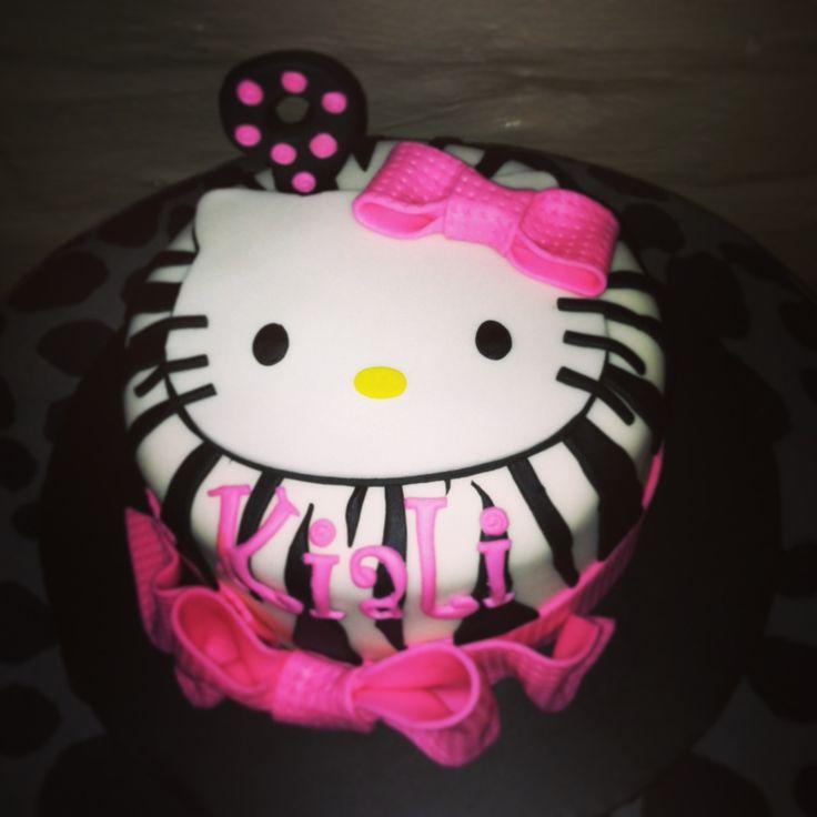 Cake Hello Kitty Pink : Hello Kitty cake in pink and purple Birthday Pinterest