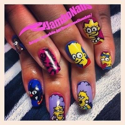 Simpsons nails | Nail Art I LOVE | Pinterest