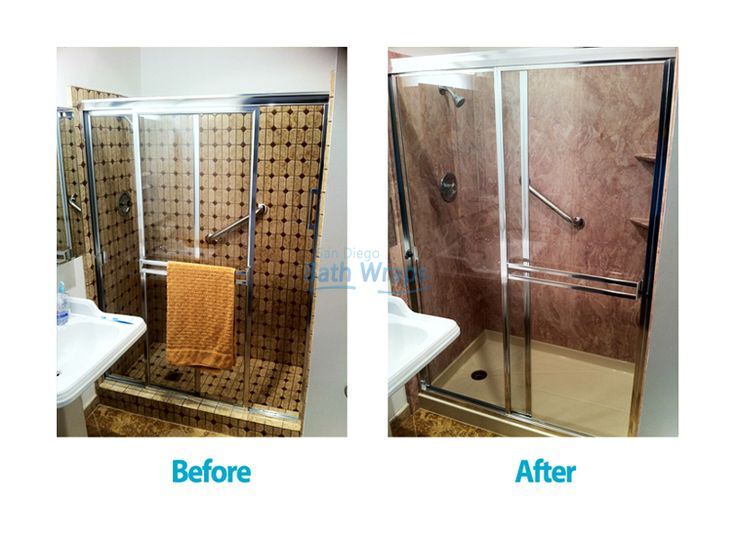 by San Diego Bath Wraps on Before and After bathroom remodeling