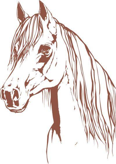 Tete de cheval silhouette pinterest - Dessin tete de cheval ...