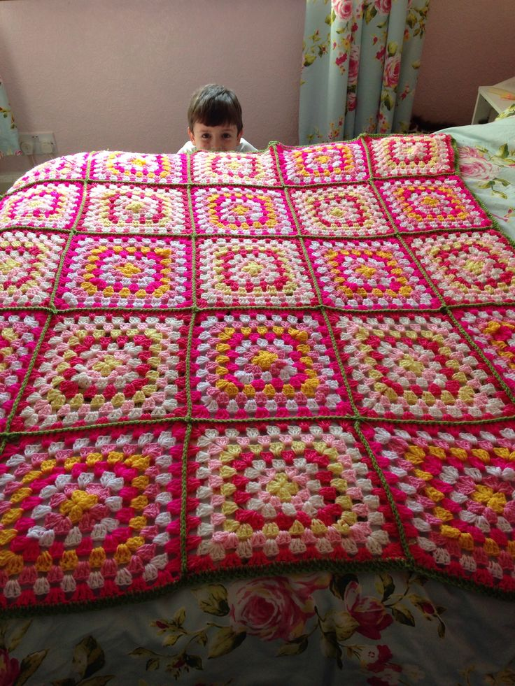 Granny square blanket for my bed | crochet,cross stitch,cake and othe ...