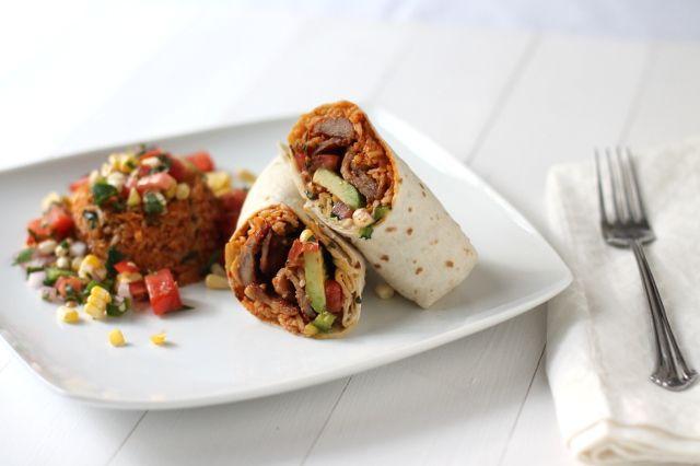 Spicy Pork Bulgogi And Beans Burrito Recipe — Dishmaps