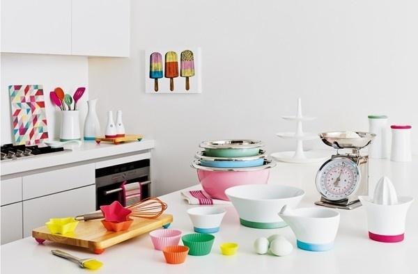 pastel neon kitchen