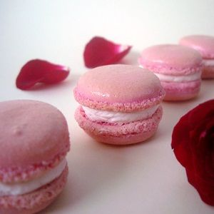 French Macaroons With Raspberry-Rose Buttercream Recipe — Dishmaps