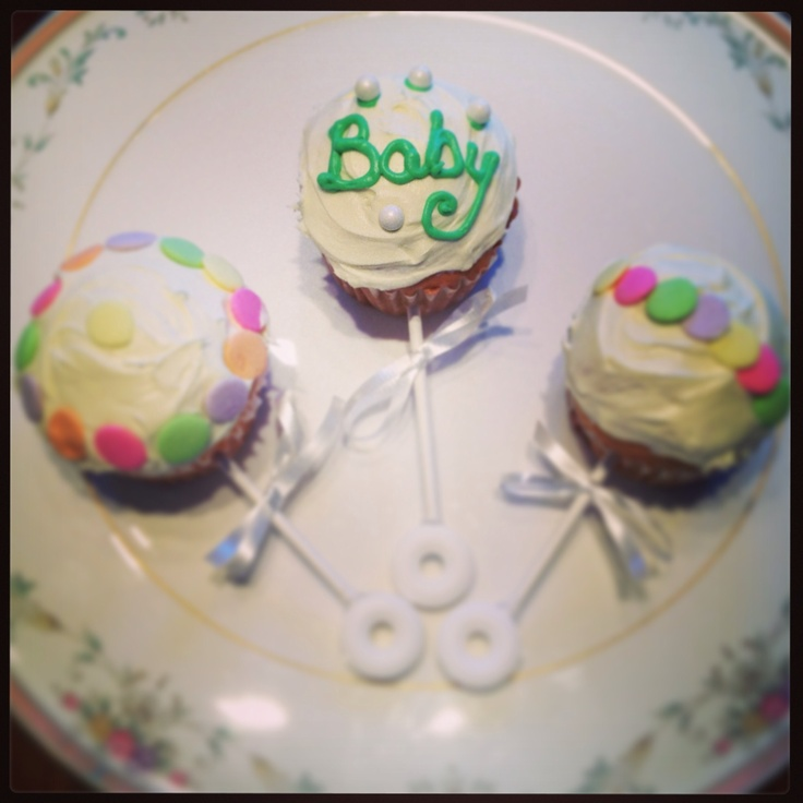 Baby rattle cupcakes | Baking/Cooking | Pinterest