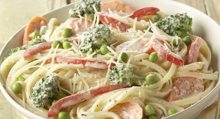 Pasta Primavera - made tonight using shrimp, broccoli, carrots, onion ...