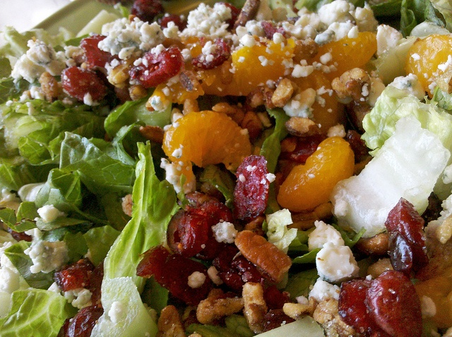 Pecan crusted chicken salad w/blue cheese, pecans, cranberries - YUM