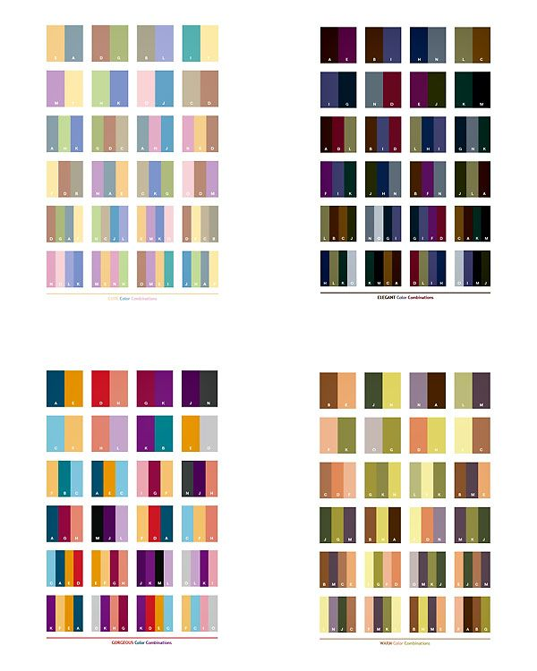 color combinations for clothing choices for family