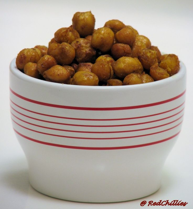 Spicy Oven Roasted Chickpeas/ Garbanzo Beans