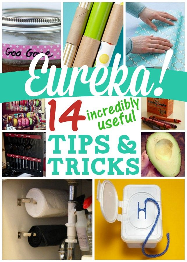 14 Incredibly Useful Household Tips - Ideas for organizing, cleaning, and more. A must-read!