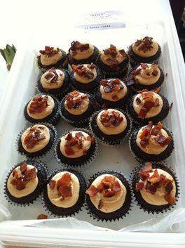 Delicious Dark Chocolate Bacon Cupcakes