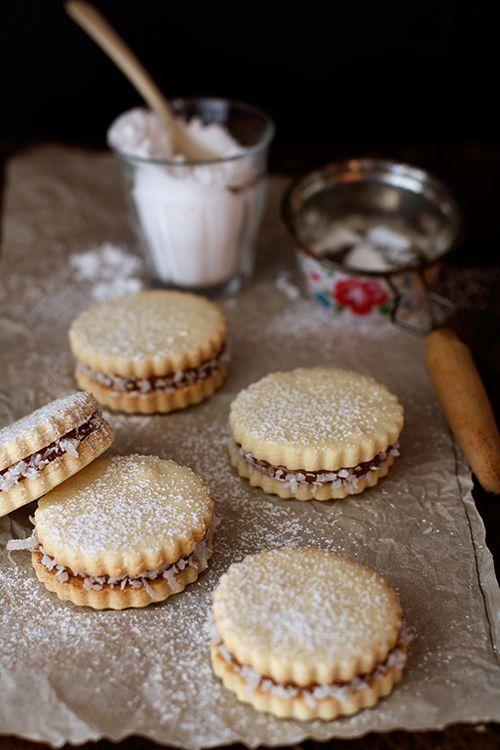 Alfajores (Dulce De Leche Sandwich Cookies) Recipe — Dishmaps