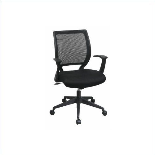 Work Smart Screen Back Black Fabric Task Office Chair Black By Office