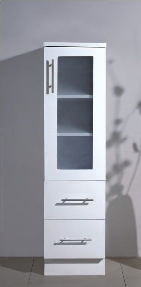 free standing white color mdf bathroom storage cabinet bl