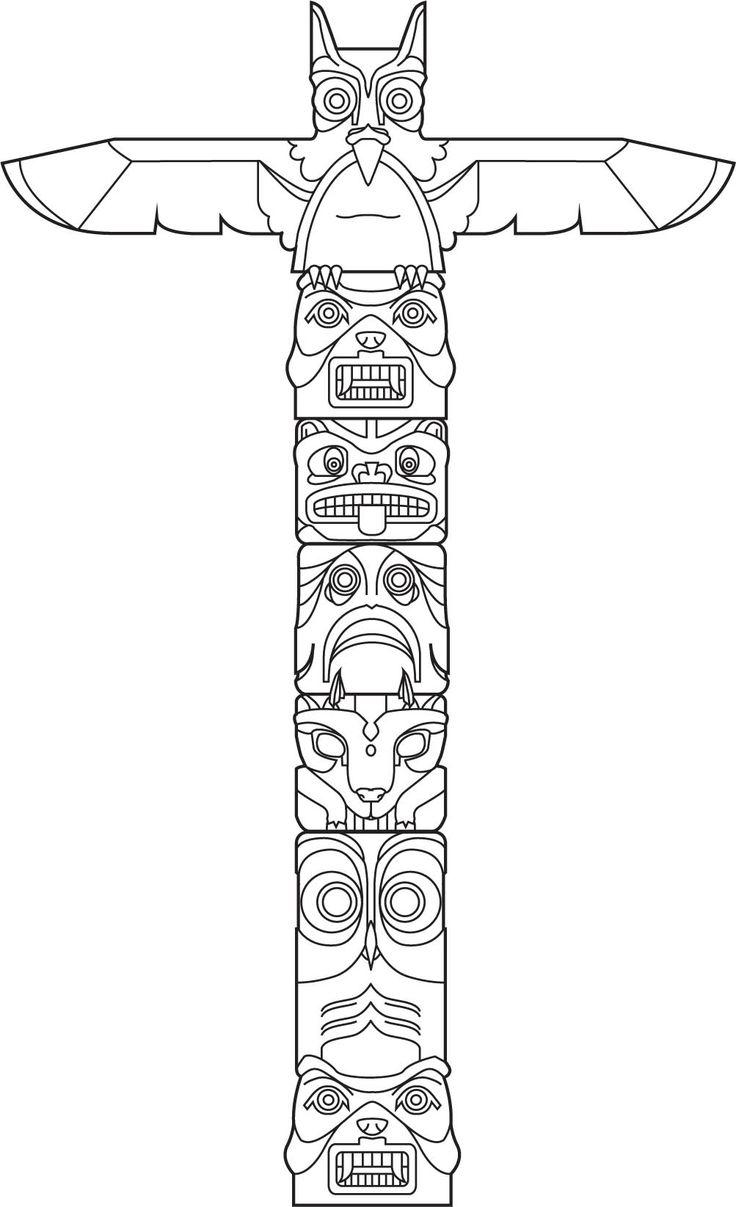 Totem Vector Art Poles Pinterest