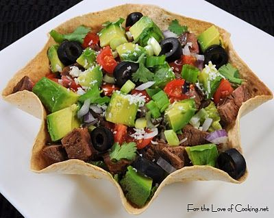 For the Love of Cooking » Flank Steak and Avocado Taco Salad