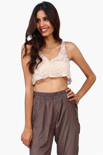Harem Pants // Lace Crop Top