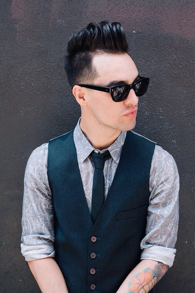 bridal hairstyles with headband : Brendon Urie. Bands Pinterest
