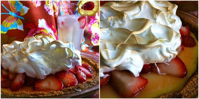 strawberry lemonade icebox pie recipe | Cooking and Food | Pinterest