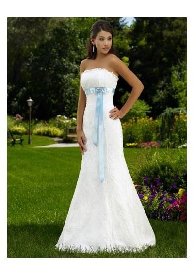 Lace wedding dress blue ribbon wedding dresses pinterest for Blue sash for wedding dress