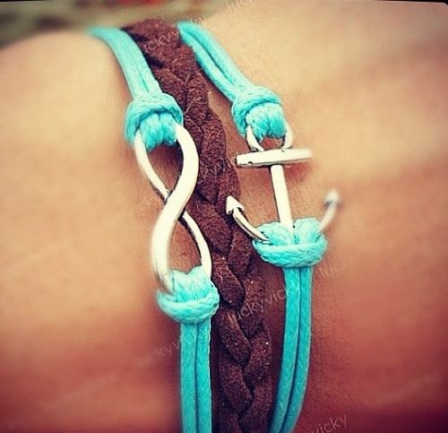 infinity and anchor bracelet....love