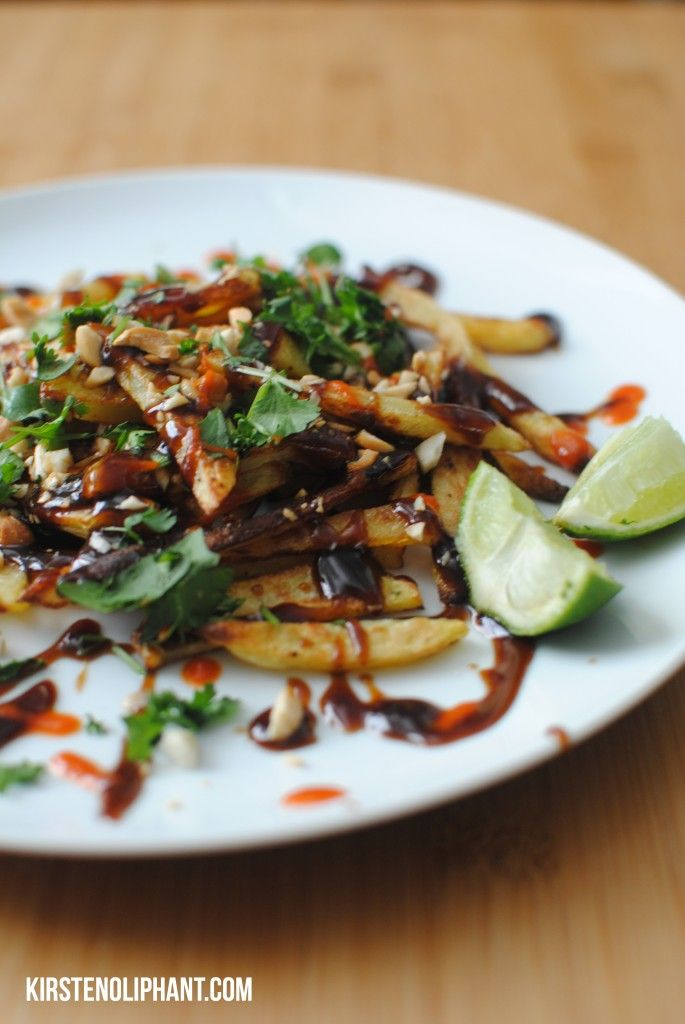 twist on the American classic,Pad Thai French Fries, have an Asian ...