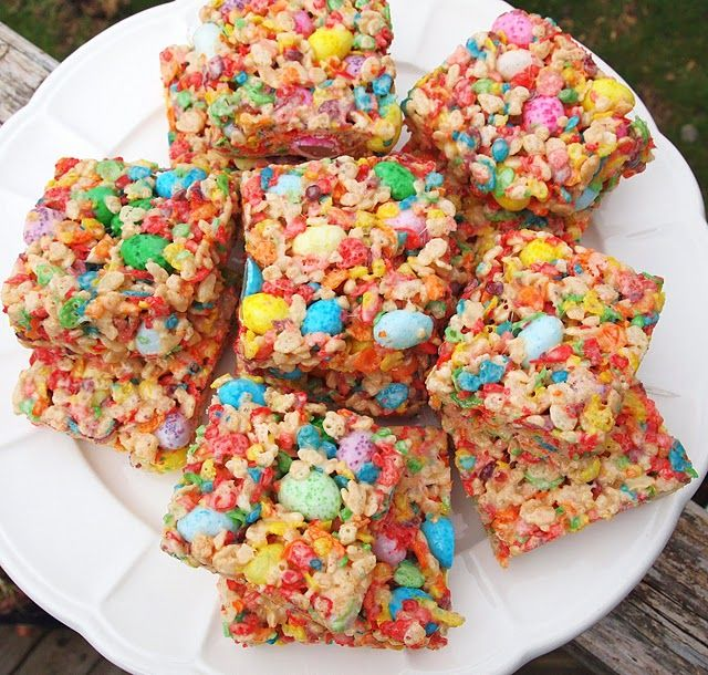 Fruity Pebbles Cereal Squares | Recipes | Pinterest