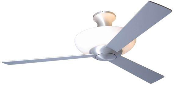 ... Brushed Aluminum Uplight Ceiling Fan | Interior Design | Pinterest