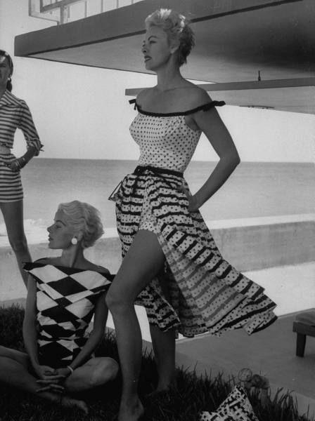 Stripes + Polka Dots   Photo by Nina Leen, 1955