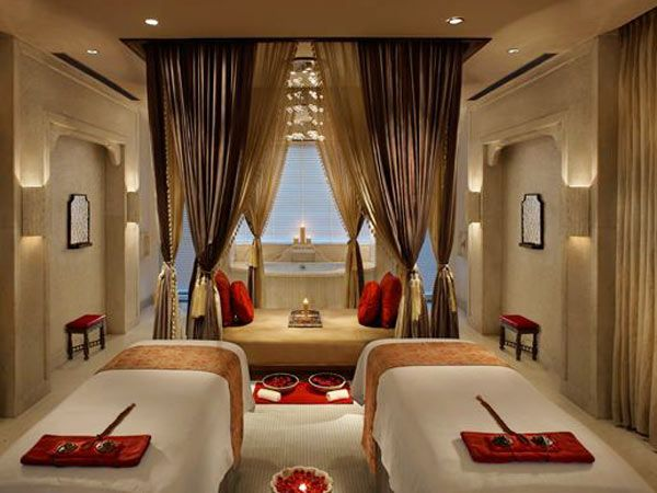 Luxurious spa red gold cream decorating pinterest for A beautiful you salon