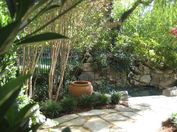 Landscape design with grotto home design for Garden grotto designs