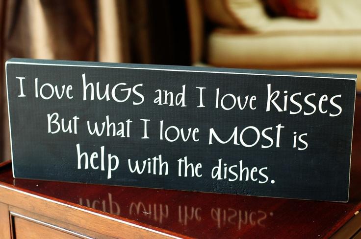Hugs, Kisses, Dishes.  :)