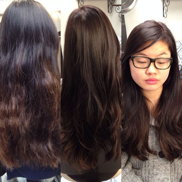 ... up ombré into rich, espresso brown. Hair by Sarah Moscato-Goodpaster