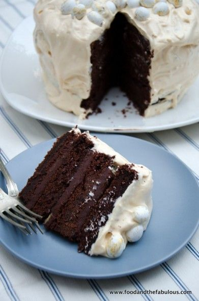 Devil's Food Cake with Peppermint Marshmallow Frosting