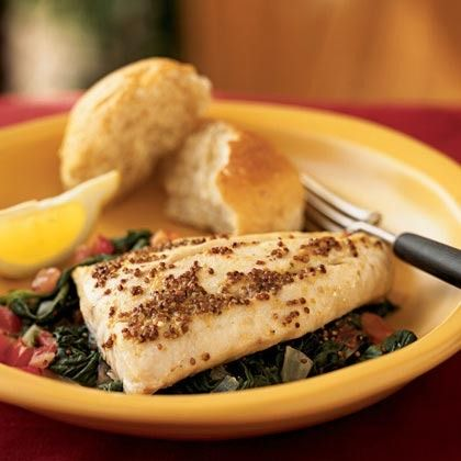 Red Snapper over Sauteed Spinach and Tomatoes by Cooking Light