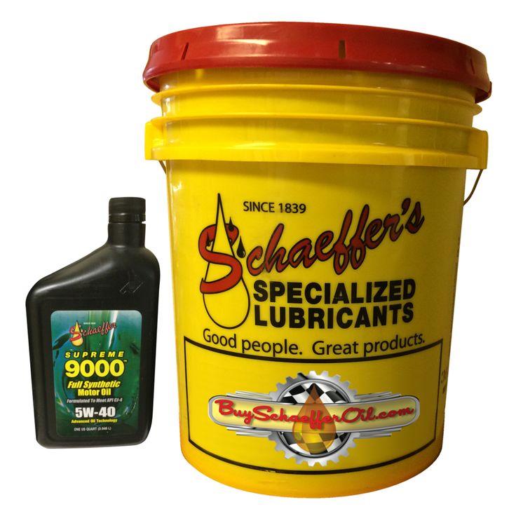Schaeffer 9000 Supreme Full Synthetic 5w 40 Motor Oil 5
